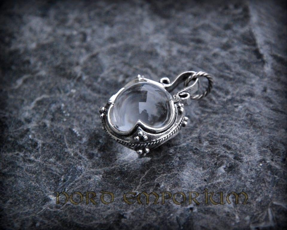 Gotland crystal ball pendant sterling silver nord emporium gotland crystal ball pendant sterling silver aloadofball Images