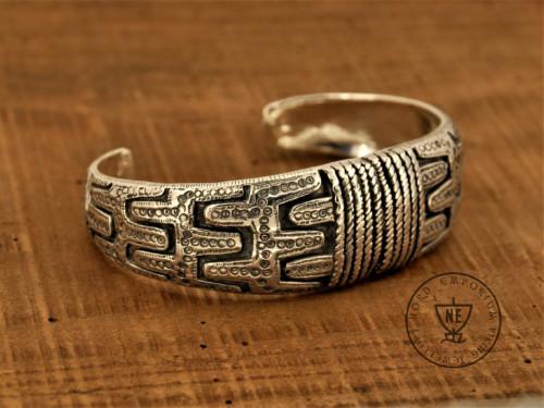 Gotland Bracelet XL Sterling Silver Viking Arm Ring Viking Jewelry Handmade