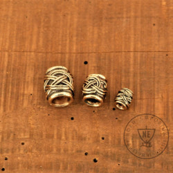 bronze beard beads set