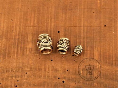 bronze beard beads set