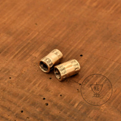 6mm bronze beard beads