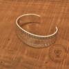 Stamped bracelet bangle