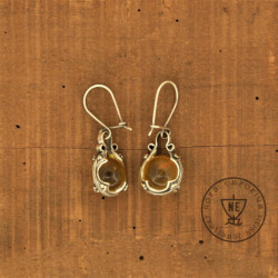 Honey Milk Amber Earrings
