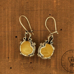 Lemon Amber Earrings