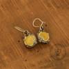 Lemon Amber Earrings