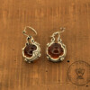 Golden Brown Amber Earrings